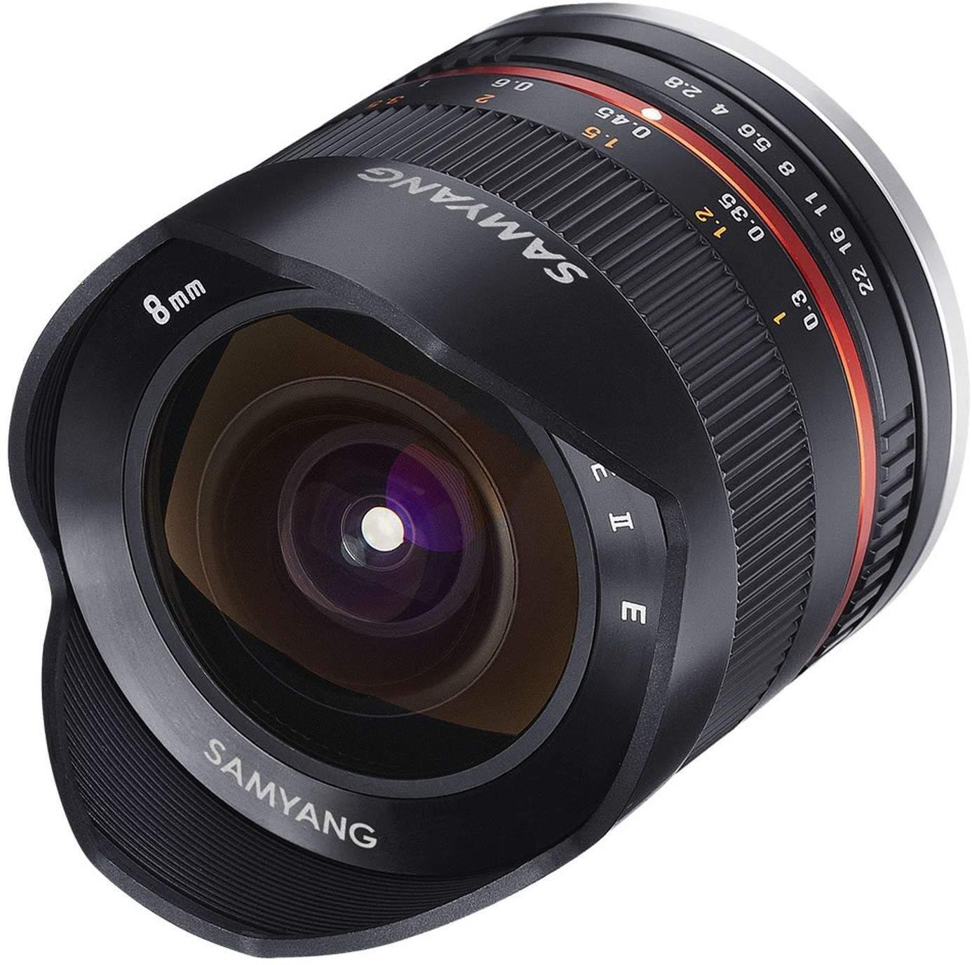 Samyang 8mm F2.8 Fisheye UMC II APS-C Fuji X Camera Lens - Black main image