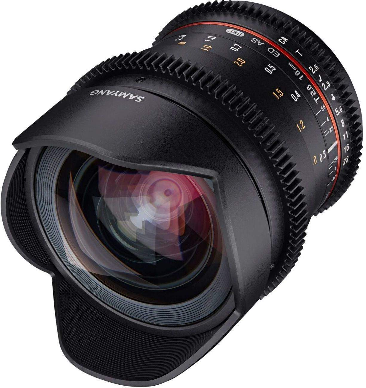 16mm T2.6 VDSLR UMC II Canon M Full Frame Video Lens