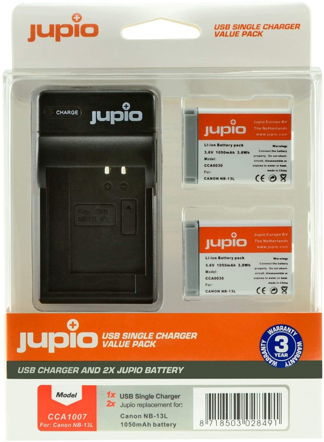 2 x Jupio Canon NB-13 Batteries & Single Charger Kit main image