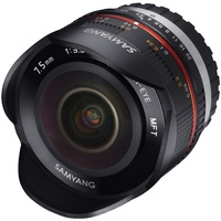 Samyang 7.5mm F3.5 Fisheye UMC II APS-C MFT - Black Camera Lens