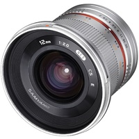 Samyang 12mm F2.0 NCS CS MFT Camera Lens - Silver