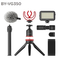 BOYA BY-VG350 Vlogging Kit 2 incl. Mini Tripod, MM1+ Mic, LED Light & Cold Shoe Mount