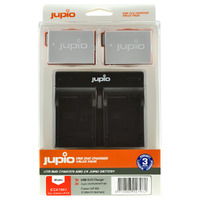 2 x Jupio Canon LP-E8 Batteries & Dual Charger Kit