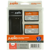 2 x Jupio Canon LP-E10 Batteries & Single Charger Kit