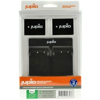 2 x Jupio Fuji NP-W126S Batteries & Dual Charger Kit