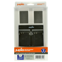 2 x Jupio Olympus PS-BLN1 Batteries & Dual Charger Kit