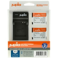 2 x Jupio Panasonic DMW-BCM13E Batteries & Single Charger Kit