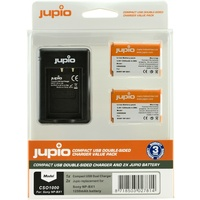 2 x Jupio Sony NP-BX1 Batteries & Double Sided Charger Kit